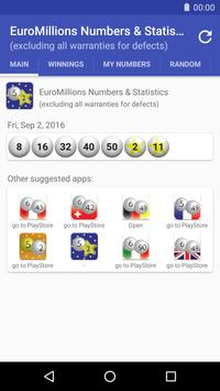 EuroMillions Numbers & Statistics poster