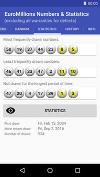 EuroMillions Numbers & Statistics screenshot 1