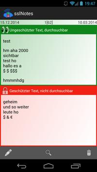 sslNotes screenshot 2