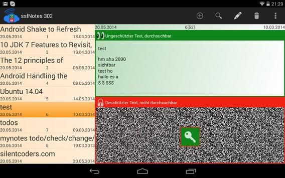 sslNotes apk screenshot
