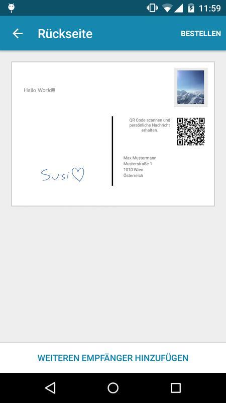 postkarte individuell gestalten versenden apk postkarte individuell gestalten. Black Bedroom Furniture Sets. Home Design Ideas