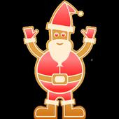 Gingerbread Santa icon