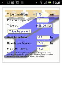 SteelCalcHEB apk screenshot