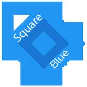 Square Blue CM12 Theme icon