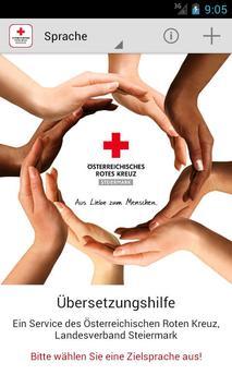 medTranslate - Rotes Kreuz poster