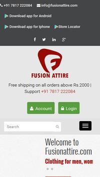 Fusion Attire Online Shopping poster