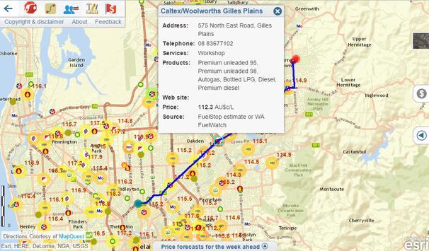 FuelStop - fuel price map apk screenshot