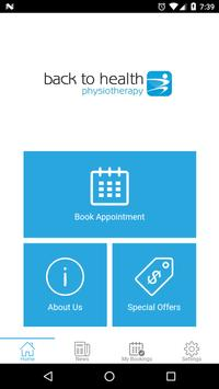 Back to Health Physiotherapy poster