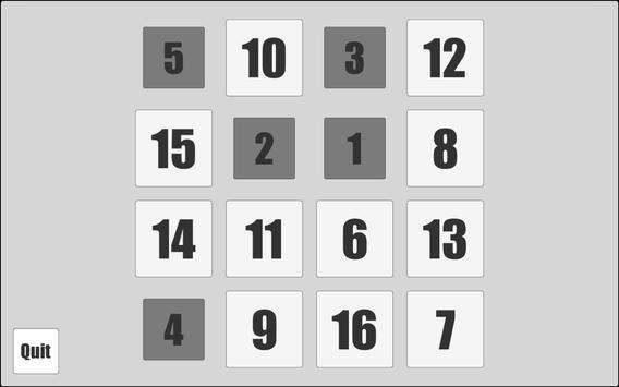 1 to 16 apk screenshot