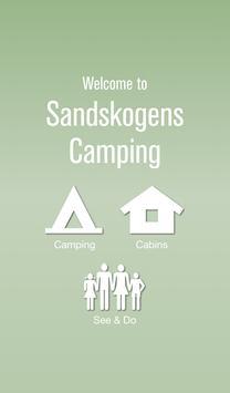 Sandskogens Camping poster