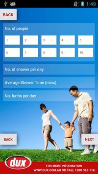 Dux Hot Water Guide - Phone screenshot 1