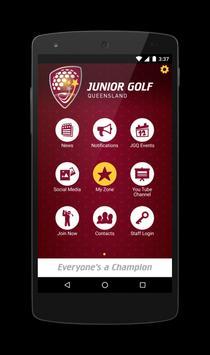 Junior Golf Queensland poster