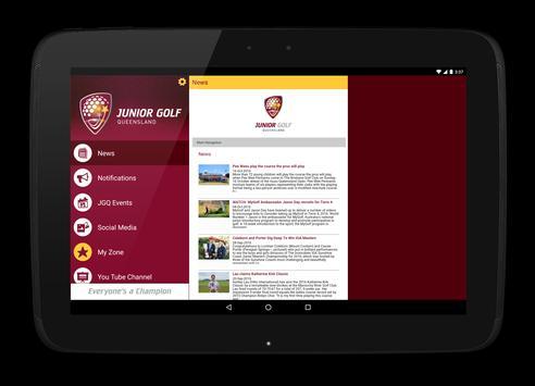 Junior Golf Queensland apk screenshot