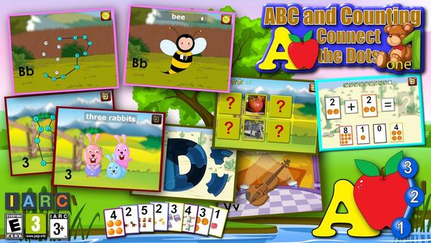 孩子們 ABC 和計數 海報