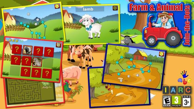 ABC Farm Animal Join the Dots poster