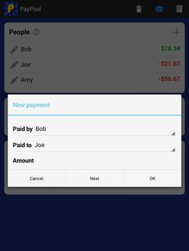 PayPool Share Costs Calculator apk screenshot