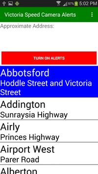 Victorian Speed Camera Alerts screenshot 1