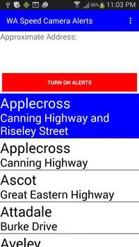 WA Speed Camera Alerts screenshot 1