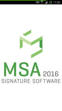 MSA poster