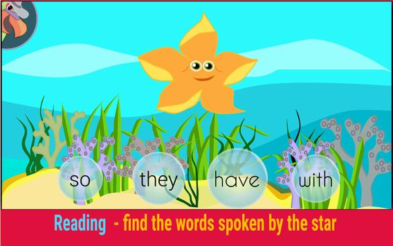 ParrotFish - Sight Words Reading Games apk screenshot