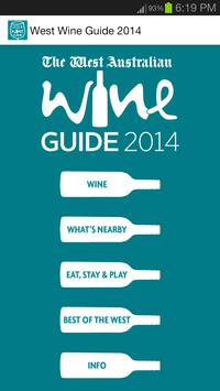 The West Wine Guide 2014 poster