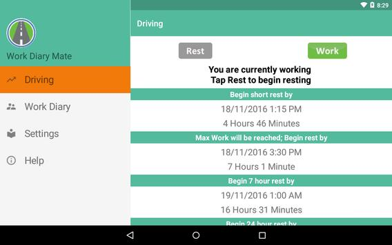 Work Diary Mate apk screenshot