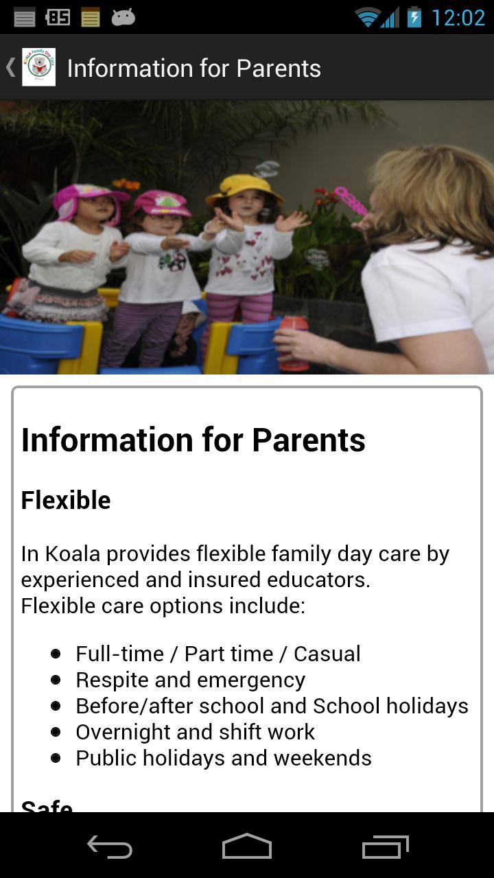 Koala Family Day Care poster