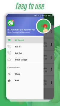 HD Automatic Call Recorder Pro screenshot 1