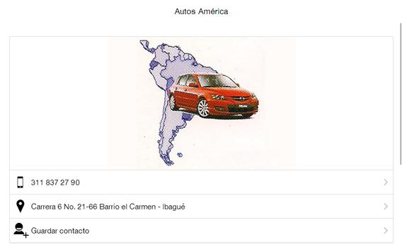 Autos América Ibagué apk screenshot