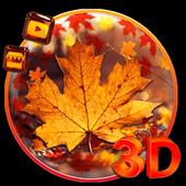 3d Glass Tech Leaf Theme icon