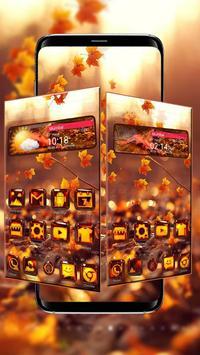 3d Glass Tech Leaf Theme poster