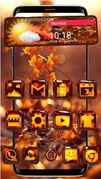3d Glass Tech Leaf Theme screenshot 1