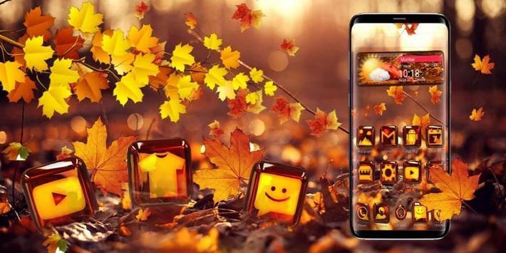 3d Glass Tech Leaf Theme screenshot 3