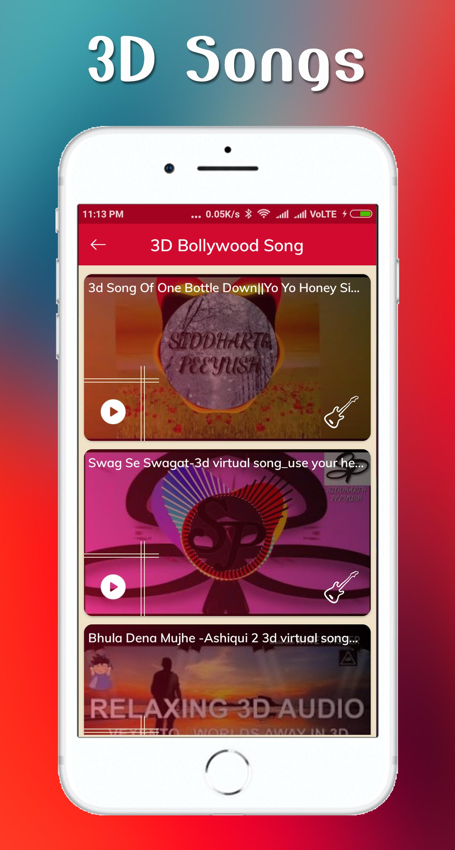 3D song & 3D Video Song for Android - APK Download