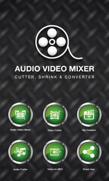 Audio Video Mixer - Video & Music Cutter poster