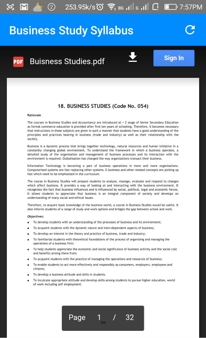 Class 12th Business Study Notes for Android - APK Download