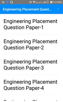 Engineering Placement Questions Papers poster