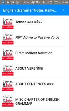 Railway Traffic Assistantअंग्रेज़ी व्याकरण Notes apk screenshot