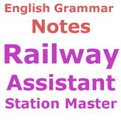 Railway Station Master अंग्रेज़ी व्याकरण  Notes icon