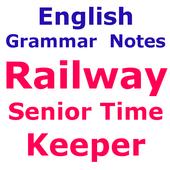 Railway Senior Time Keeper अंग्रेज़ी व्याकरण Notes icon