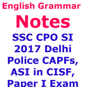 SSC CPO  Delhi Police CAPF अंग्रेज़ी व्याकरण Note icon
