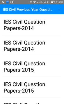 Previous Year IES Civil Questions Papers apk screenshot