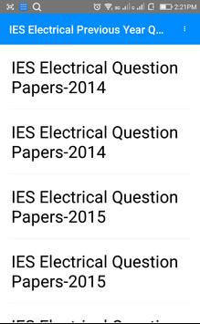 Previous Year IES Electrical Questions Papers apk screenshot