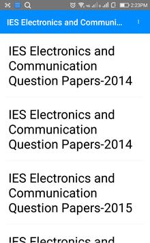 IES Electrical Communication Questions Papers poster