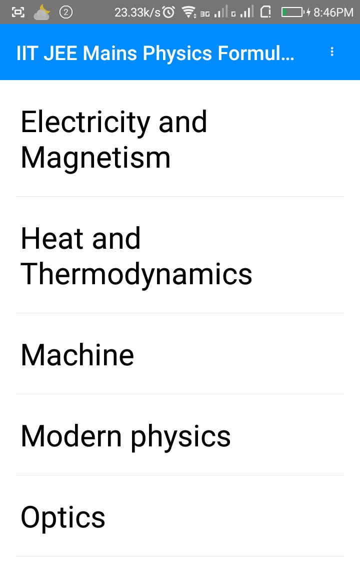 IIT JEE Mains Physics Formula pdf for Android - APK Download