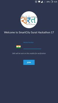 SmartCity Surat Hackathon 17 poster