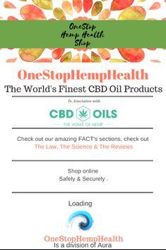 CBD OILS UK - ONE STOP HEMP HEALTH SHOP screenshot 1