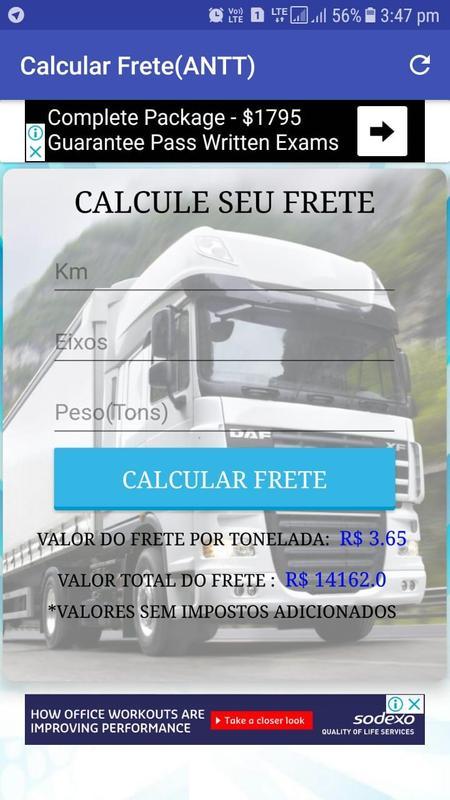 Calcular Frete(ANTT) para Android - APK Baixar da5ea3645e6