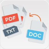 PDF Converter - word docs file , image , text icon