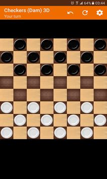 Checkers (Dam) 3D poster